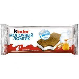 Пирожное Kinder «Молочный ломтик» Молоко и мед 28 г