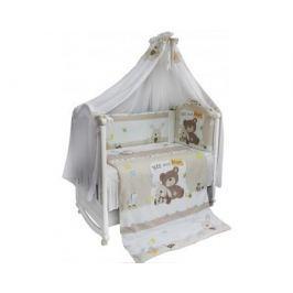 Комплект в кроватку Bombus/L'Abeille «Мишка с зайкой» 6 пр.