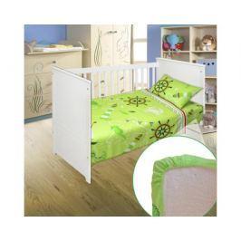 Комплект в кроватку Bonne Fee «Кораблик» на резинке 3 пр. в ассортименте