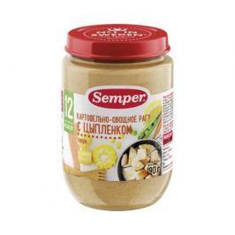 Пюре Semper Картофельно-овощное рагу с цыпленком с 12 мес. 190 г
