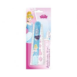 Линейка Disney Princess раскладная с трафаретом 30 см