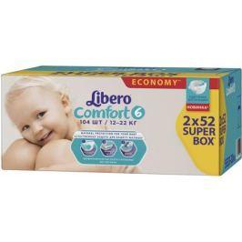 Подгузники Libero Comfort 6 (12-22 кг) 104 шт.