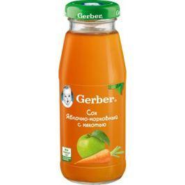 Сок Gerber яблочно-морковный с мякотью с 5 мес. 175 мл