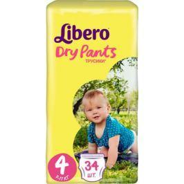 Трусики-подгузники Libero Dry Pants 4 (7-11 кг) 34 шт.