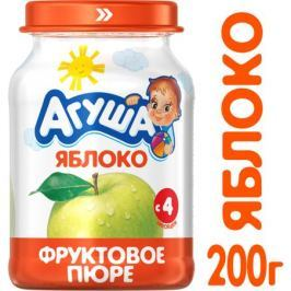 Пюре Агуша Яблоко с 4 мес. 200 г