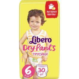 Трусики-подгузники Libero Dry Pants 6 (13-20 кг) 30 шт.