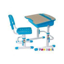 Комплект мебели FunDesk «Capri» стол 71х55 см и стул голубой