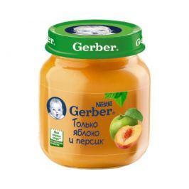 Пюре Gerber Яблоко и персик с 5 мес. 130 г