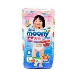 Трусики-подгузники Moony Man для девочек L (9-14 кг) 44 шт.