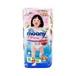 Трусики-подгузники Moony Man для девочек XL (12-17 кг) 38 шт.