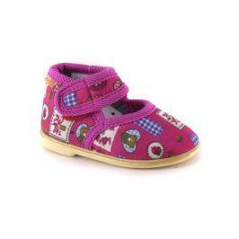 Туфли домашние ясельные для девочки, Домашки, красные