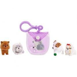 Игровой набор Puppy In My Pocket брелок-сумочка фиолетовая и 5 щенков