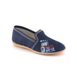 Туфли домашние дошкольные для мальчика, Домашки, синие