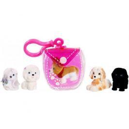 Брелок-сумочка Puppy In My Pocket розовая со щенками