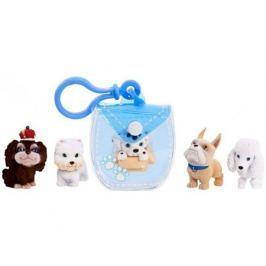 Игровой набор Puppy In My Pocket брелок-сумочка голубая и 5 щенков
