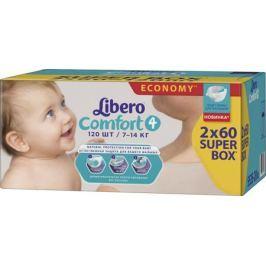 Подгузники Libero Comfort 4 (7-14 кг) 120 шт.
