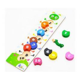 Развивающая игрушка Фабрика Фантазий «Вкладыши, шнуровка, цифры»