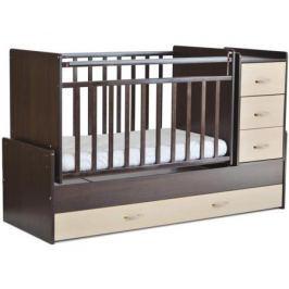 Кроватка-трансформер СКВ-Компани 534038-5 венге/береза