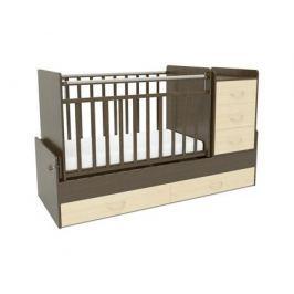 Кроватка-трансформер СКВ-Компани 544038-5 венге/береза