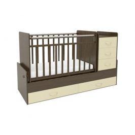 Кроватка-трансформер СКВ-Компани 544038-9 венге/бежевая