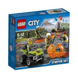 Конструктор LEGO City 60120 Набор для начинающих Исследователи Вулканов