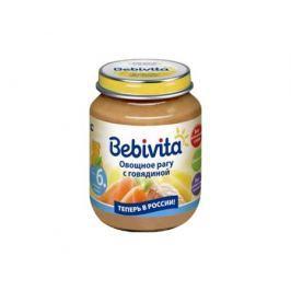 Пюре Bebivita Овощное рагу с говядиной с 6 мес. 100 г