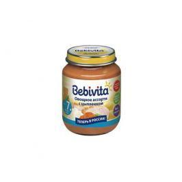 Пюре Bebivita Овощное ассорти с цыпленком с 7 мес. 100 г