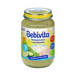 Пюре Bebivita Овощное рагу с цыпленком с 9 мес. 190 г