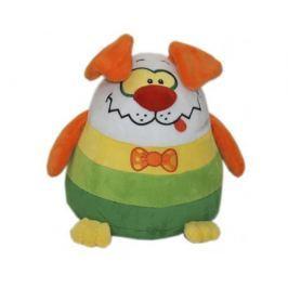 Мягкая игрушка СмолТойс «Щенок-шарик» 27 см орнажево-зеленая