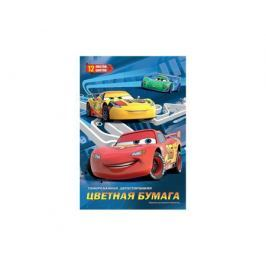 Цветная бумага Disney Cars 12 цв.