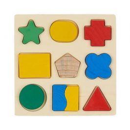 Игрушка-вкладыш Фабрика фантазий «Фигуры» деревянная 9 шт.