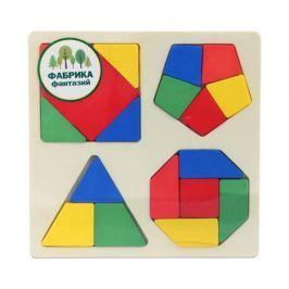 Игрушка-вкладыш Фабрика фантазий «Фигуры» деревянная на квадратной основе