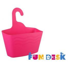 Корзина для хранения FunDesk SS3 с крючком розовая