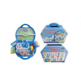 Игровой набор ABtoys «Маленький доктор» в чемодане с пупсом 15 пр.