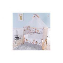 Комплект в кроватку Луняшки «Совы» 6 пр. бежевый