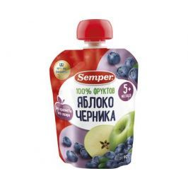 Пюре Semper Яблоко и черника с 5 мес. 90 г (пауч)