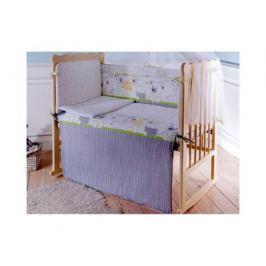 Комплект в кроватку Луняшки «Мой зоопарк», 6 предметов зеленый