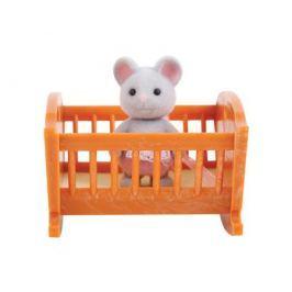 Игровой набор Village Story «Малыш мышонок с кроваткой»