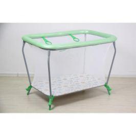 Манеж Фея Классика «Совы» 107х73х77 см зеленый