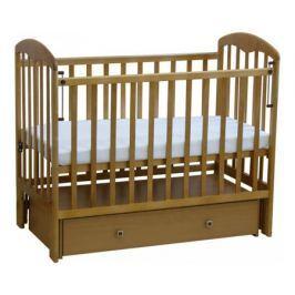 Кроватка Фея 382 универс. маятник с ящиком медовый