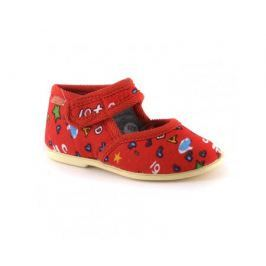 Туфли комнатные малодетские для девочки Домашки, красные