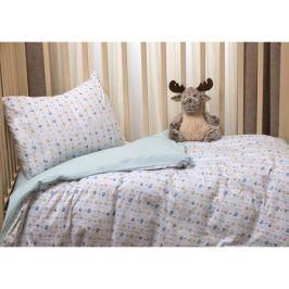 Комплект постельного белья Li-Ly «Игрушки» трикотаж 3 пр. голубой
