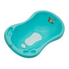 Ванночка Be2Me «Мишка» с пробкой и ковриком 100 см бирюзовая