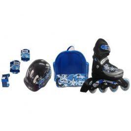 Набор: ролики, защита, шлем Ase-Sport ASE-617 «Combo» M (34-37) Blue