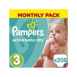 Подгузники Pampers Active Baby-Dry 3 (5-9 кг) 208 шт.