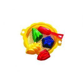 Набор для игры с песком Пластмастер с ситом, совочком и формочками