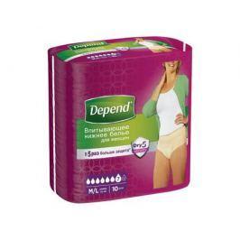 Впитывающее нижнее белье Depend для женщин M/L 10 шт.