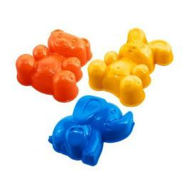 Набор формочек Нордпласт «Зайка, медведь, слоник»