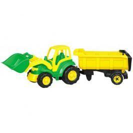 Трактор Polesie «Чемпион» с ковшом и полуприцепом