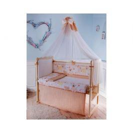Комплект в кроватку Луняшки «Мой зоопарк» 6 пр. бежевый